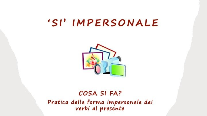 Si impersonale